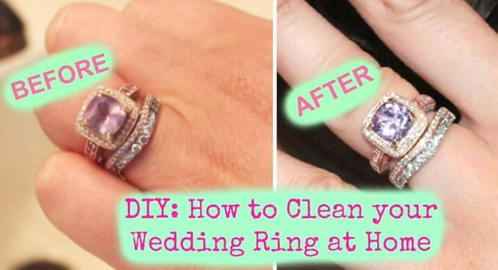 clean your diamond ring at home