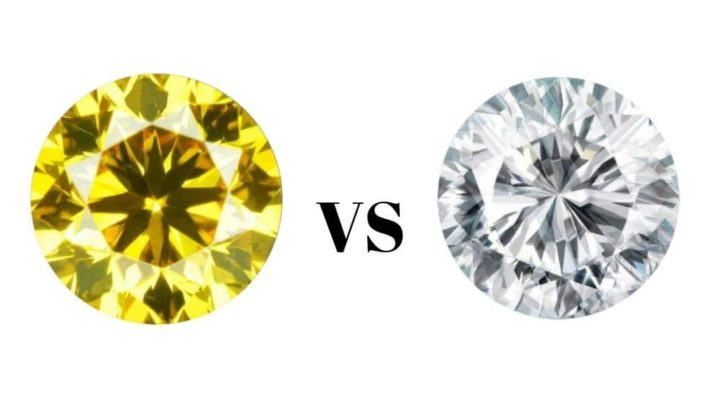 yellow vs white diamond