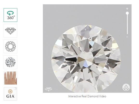 Brilliant Earth diamond view